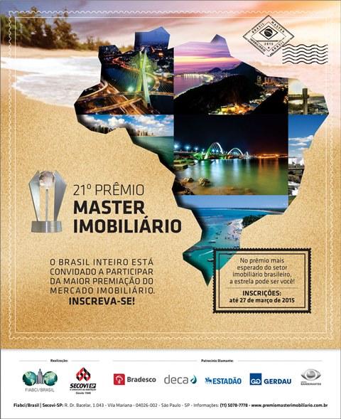 Inscrições abertas! Prêmio Master Imobiliário 2015