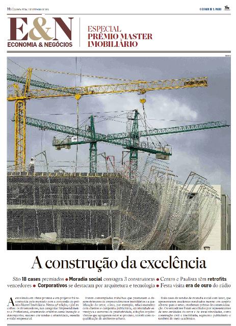 Acompanhe aqui o Caderno Especial Master Imobiliário, publicado em Economia&Negócios pelo jornal O Estado de de S.Paulo  no dia 1º de Setembro de 2016