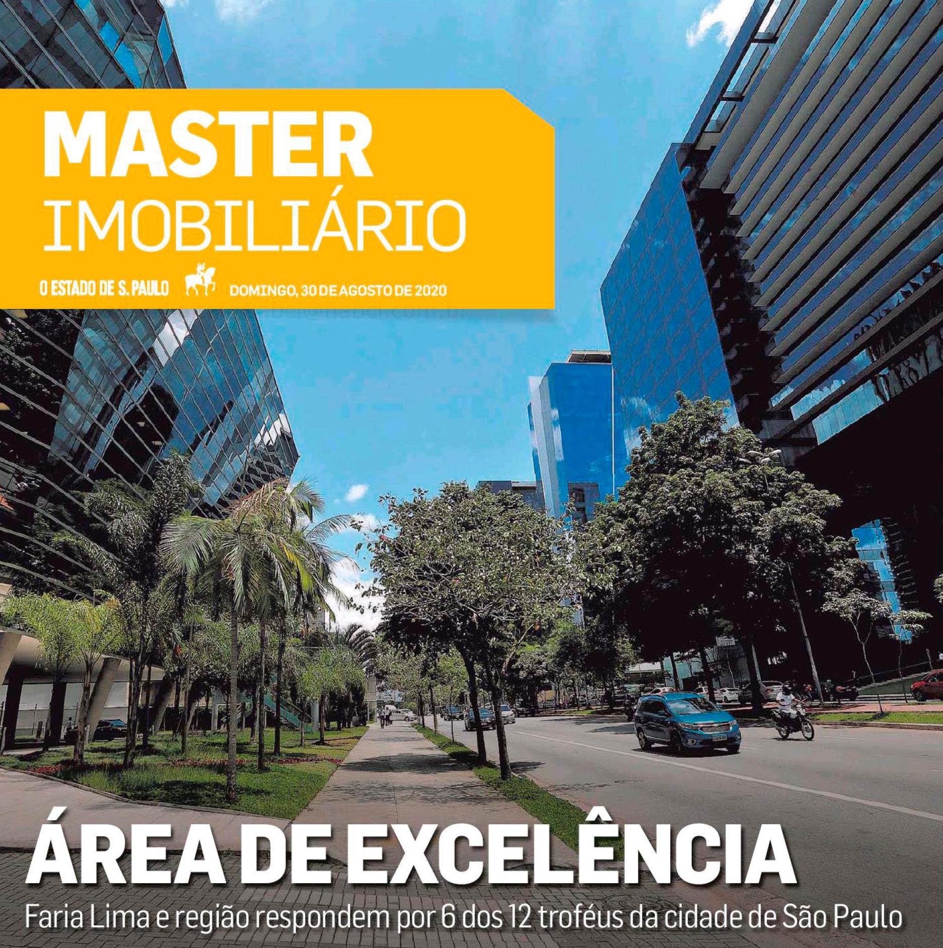 O Caderno Especial Master Imobiliário, publicado pelo jornal O Estado de de S.Paulo no dia 30 de agosto de 2020, apresentou todo o êxito dos vencedores do Oscar do setor.