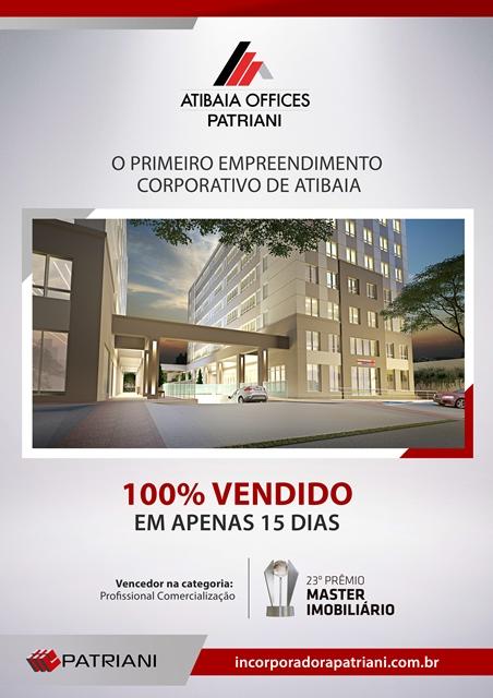 Atibaia Offices Patriani - 100% vendido em 15 dia