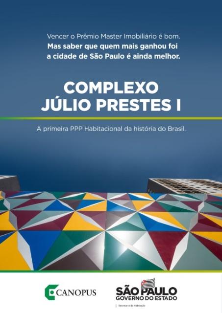 COMPLEXO JÚLIO PRESTES I: 914 MORADIAS NO CENTRO